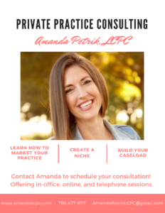 Private Practice Consultation with Amanda Petrik, LCPC. Schedule your consult today!